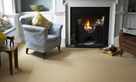 Sandy Coloured Living Room Carpet