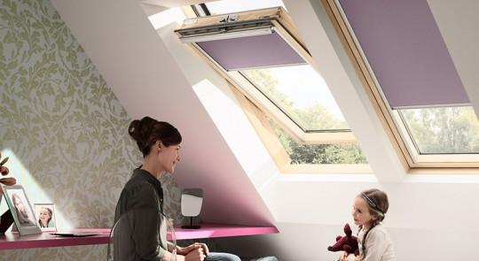 Purple Roof Window Blinds